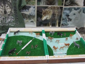 オオカミテリトリージオラマ模型