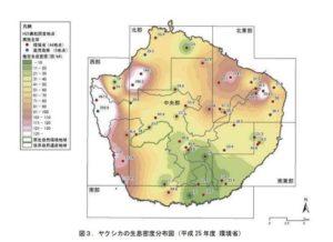 屋久島のシカ密度H25